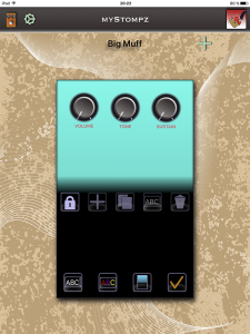 MyStompz iPad Screenshot - Stompbox edit mode