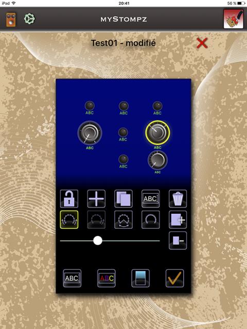 MyStompz iPad Screenshot - Editing knob angles