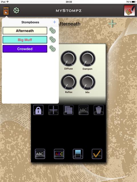MyStompz iPad Screenshot - Stompbox list