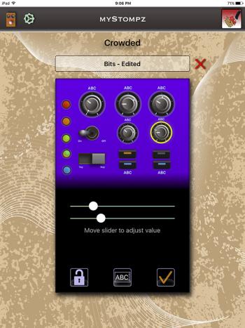 MyStompz iPad Screenshot - Editing a setting